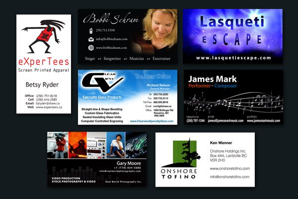 Nanaimo graphic design branding materials web print logos business cards reheart Images